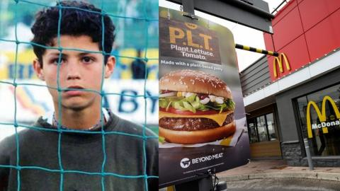 Cristiano Ronaldo used to beg for food in front of McDonald's