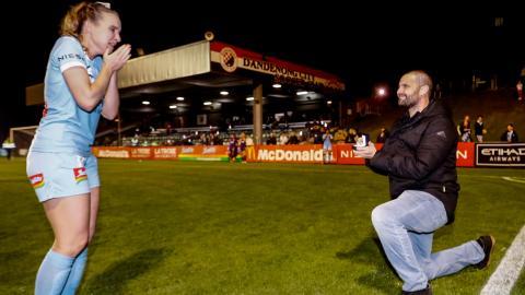 Retiring Melbourne City star gets proposed to during goal celebration