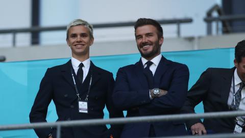 Romeo Beckham makes football debut with proud dad David Beckham looking on