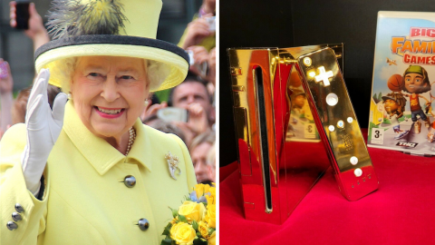 The Queen's gold-plated Wii is for sale on ebay