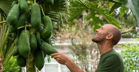 This American Decided To Grow And Forage All Of His Own Food