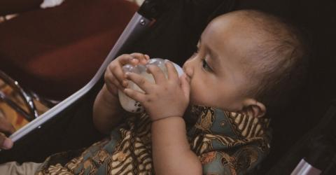 This Baby Consumes Coffee Instead of Milk