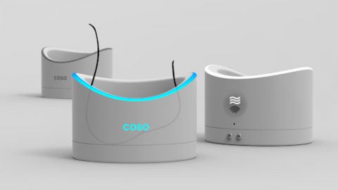 This new male contraceptive device sees users dip their testicles in an ultrasound bath