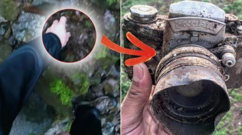 They made an incredible discovery while hiking in the woods