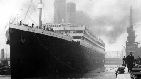 A passenger's bottle from the Titanic has been found 105 years after it sank