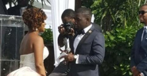 This Photo Went Viral Because Of An Optical Illusion That Made The Bride's Backside Look Extra Voluptuous