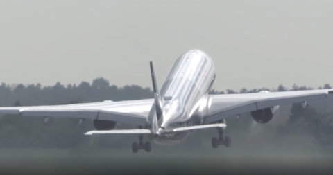 Watch as this Airbus A350 performs an amazing near-vertical takeoff