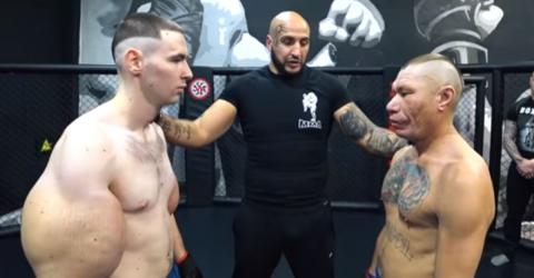 'Synthol Kid,' A Young Russian With Massive Arms, Participated In His First MMA Fight
