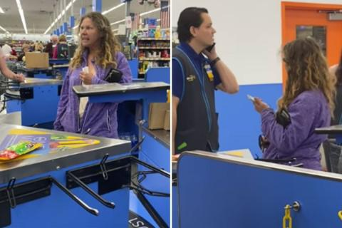 Disgusting: American woman coughs and spits on Walmart employee after causing a scene