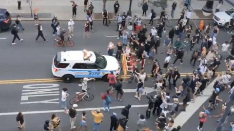 George Floyd: Police Car Drives Into Protesters in New York