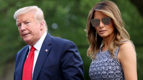 Melania Trump's Face Says It All in Response to Donald Trump's Request That She Smiles