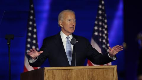 When does Biden take office and how will the transition take place?