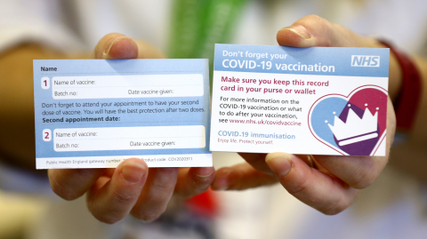 Shock TikTok video reveals fake vaccination cards sold for just £5 each
