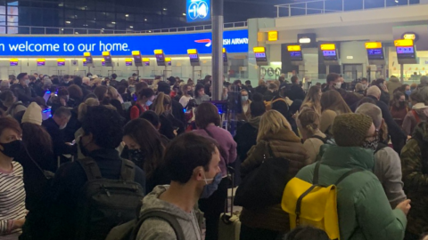 Airports in chaos as residents flee the UK ahead of border closures