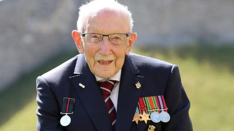 Captain Sir Tom Moore has been admitted to hospital following positive COVID test