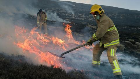 UK faces driest April yet, and Northern Ireland's Mourne Mountain was on fire
