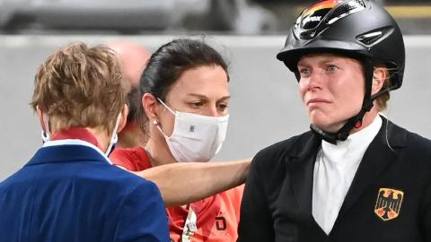 Coach caught abusing horse during Olympic showjumping event