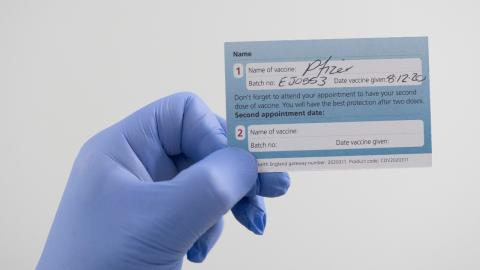 Blank NHS vaccine cards on sale as they're being misused as COVID pass