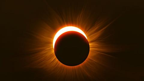 'Devil Horns': The Incredible Red Solar Eclipse That Blew The Internet Away