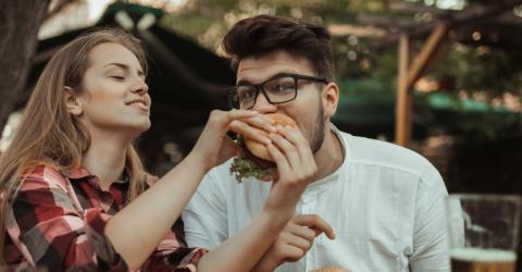 Study reveals why men eat more when they're around women