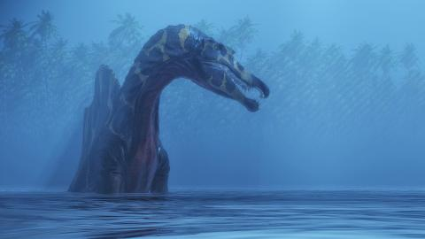A one hundred million-year-old fossil proves that one dinosaur lived underwater