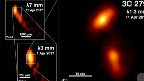 Surreal Photo of a Black Hole Ejecting Jets of Plasma