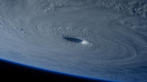 The first ever space hurricane has been recorded over the North Pole