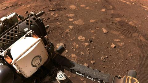 The Mars Perseverance rover finally took its first steps