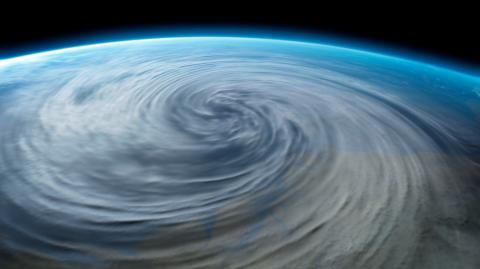 Scientists have spotted a swirling 'space hurricane' above the magnetic North Pole