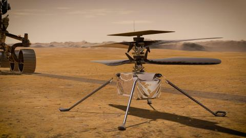 The Mars helicopter's maiden flight is due today