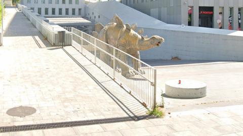 Missing man found dead, buried INSIDE a dinosaur statue in Barcelona
