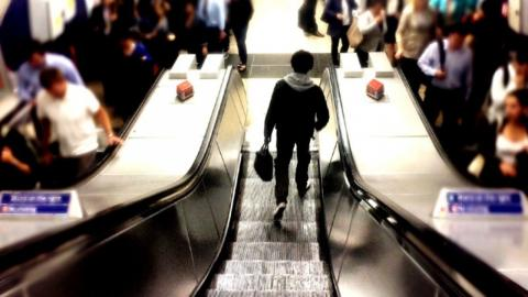 Walking on escalators doesn't make you go faster, study reveals
