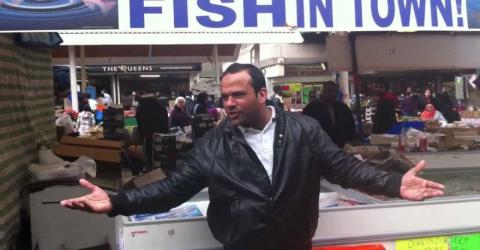This is what the one pound fish man is up to these days
