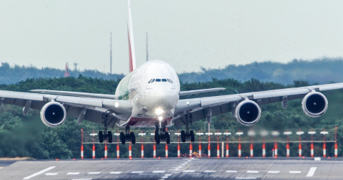 Airbus A380 makes incredible recovery after almost being swept off the runway by strong winds