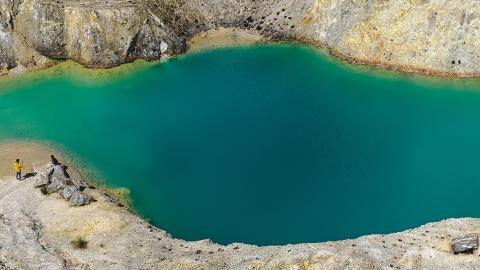 Spanish lake nicknamed 'Galician Chernobyl' makes anyone who swims in it sick