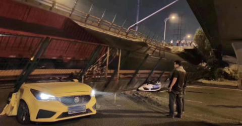 Tragic Footage Of A Bridge Collapse In China