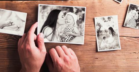He was speechless when he found a picture of his mother when she was younger