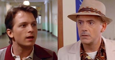 Tom Holland And Robert Downey Jr 'Back to the Future' Deepfake Video Is So Good It's Astonishing