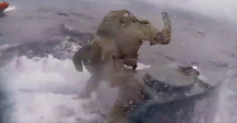 The Incredible Drug Bust the Coastguard Made on a Submarine Caught On Body Cam (Video)