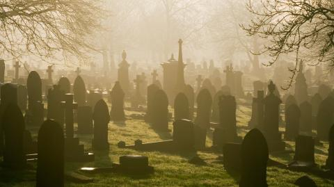 Funeral goers were left shocked after the corpse waved from its coffin