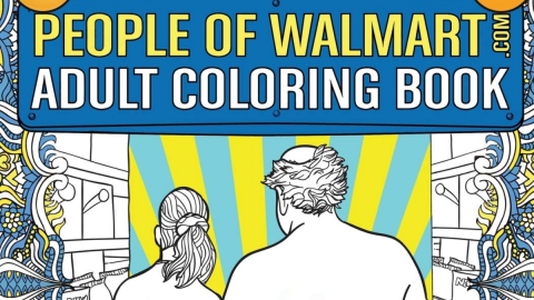 Relive Your Wildest Walmart Experiences With This Adult Colouring-in Book