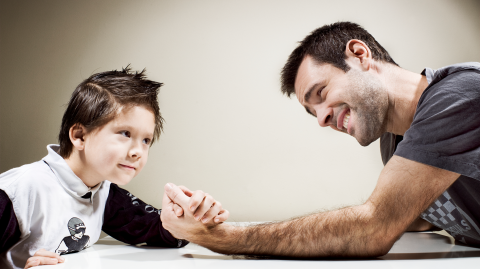 Father's Young Son Beats Him in Arm Wrestling – That's When He Went for His Gun