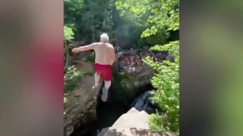 This 70-Year-Old Impressed a Group of Teenagers by Jumping off a Cliff!
