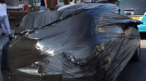 Tired of His Neighbor's Car Blocking His Driveway He Decided to Do Something Drastic