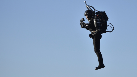 The FBI are investigating the mystery of a 'man in a jetpack' flying 3000ft in the air