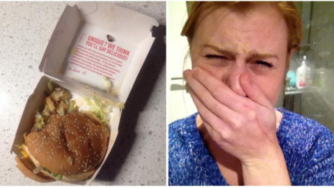 Woman Describes Her Horror After Finding a Disgusting Surprise in Her Big Mac