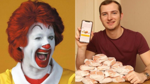 He found a flaw in a McDonald's offer and got 100 free cheeseburgers in a single day