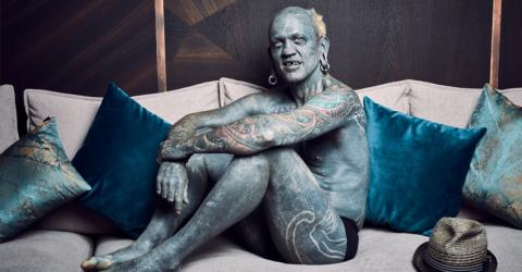 Most tattooed man in the world has foreskin covered in ink
