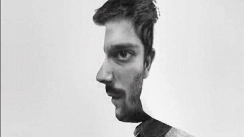 Is he facing the front or to the side? Your opinion say's a lot about you
