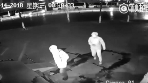 Two robbers caught in the act by CCTV might just be the worst burglars in the world